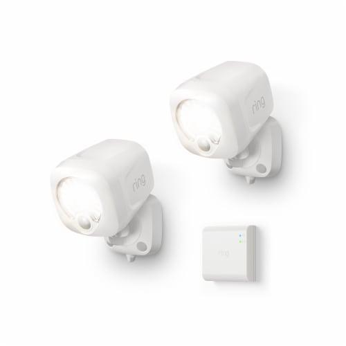 Ring™ Smart Lighting Spotlight 2 Pack & Bridge - White Perspective: front