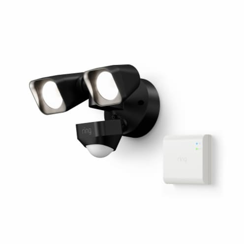 Ring™ Smart Lighting Floodlight Wired + Bridge - Black Perspective: front