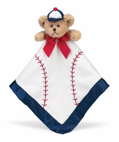 Bearington Baby  Stuffed Animal Security Blanket - Teddy Bear - Baseball Perspective: front