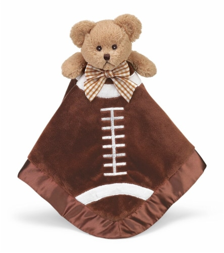Bearington Baby  Stuffed Animal Security Blanket - Teddy Bear - Football Perspective: front