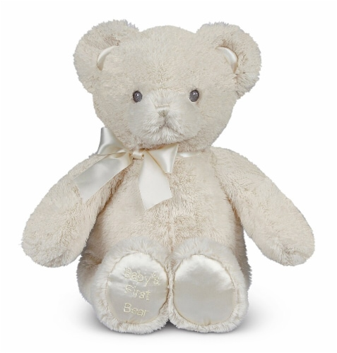Bearington Baby Baby's First Teddy Bear Small Plush Animal - Creamy White Perspective: front
