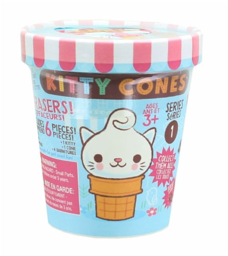 Kitty Cones Eraser Blind Box - One Random Perspective: front