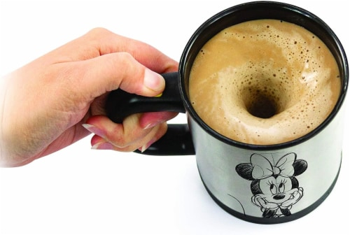 Disney Minnie Mouse Sketch Art Self-Stirring Mug Perspective: front
