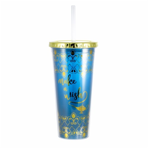 Disney Aladdin Make A Wish 16oz PVC Tumbler w/ Lid and Straw Perspective: front