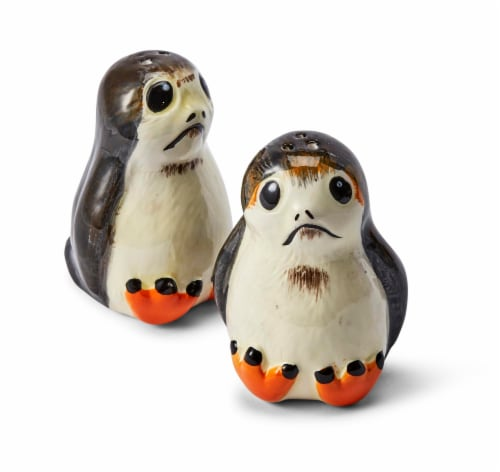 Star Wars Porgs Salt & Pepper Shakers | Official Star Wars Ceramic Spice Shakers Perspective: front