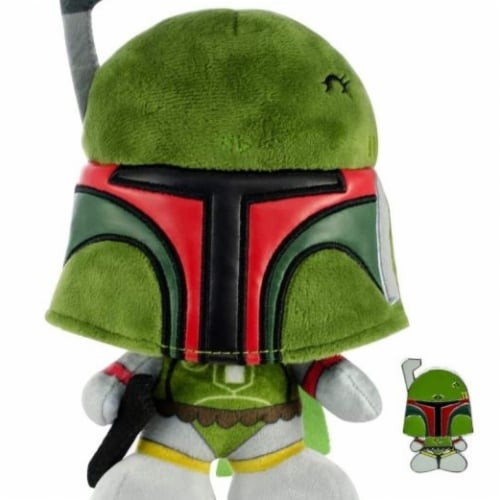 Star Wars 810611 7 in. Star Wars Boba Fett Stylized Plush Doll with Enamel Pin Perspective: front
