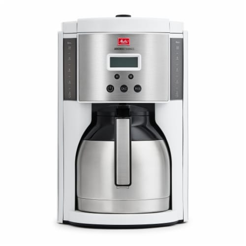 Melitta Drip Coffee Maker with Thermal Carafe - White Perspective: front