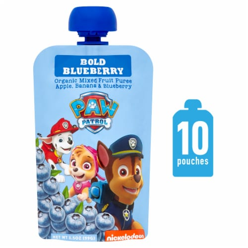 Paw Patrol Bold Blueberry Organic Mixed Fruit Puree Perspective: front