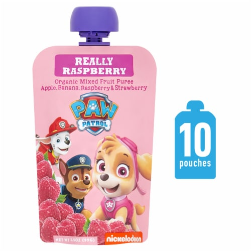 Paw Patrol Really Raspberry Organic Mixed Fruit Puree Perspective: front