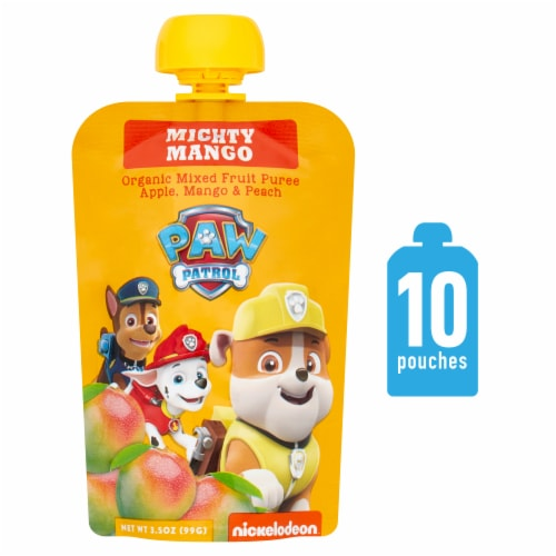 Paw Patrol Mighty Mango Organic Mixed Fruit Puree Perspective: front