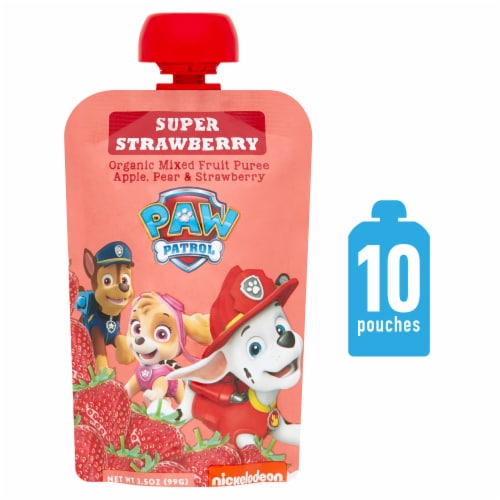 Paw Patrol Super Strawberry Organic Mixed Fruit Puree Perspective: front