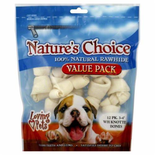 Loving Pets Natural Rawhide Bones Perspective: front