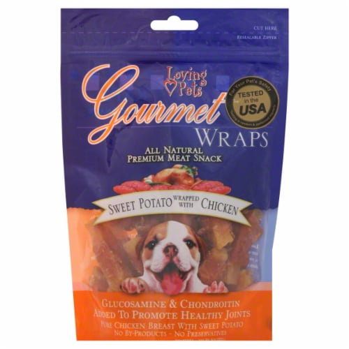 Loving Pets Gourmet Sweet Potato Wrapped With Chicken Perspective: front