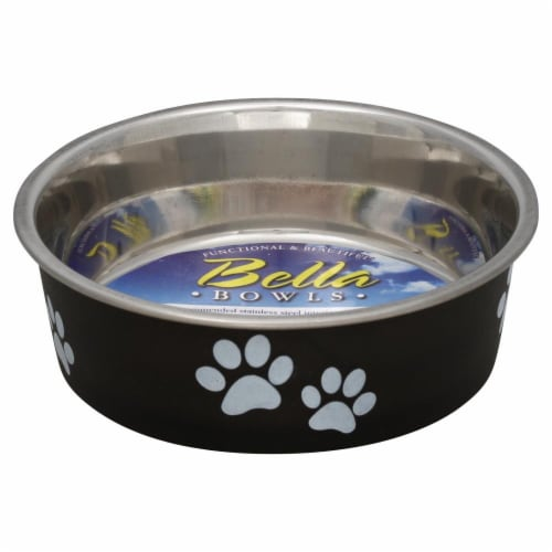 Loving Pets Small Espresso Bella Bowl Perspective: front