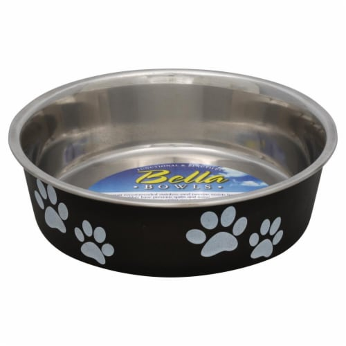 Loving Pets Medium Espresso Bella Bowl Perspective: front