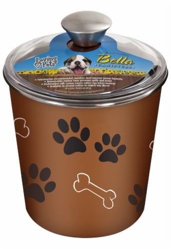 Bella Dog Treat Canister - Copper Perspective: front