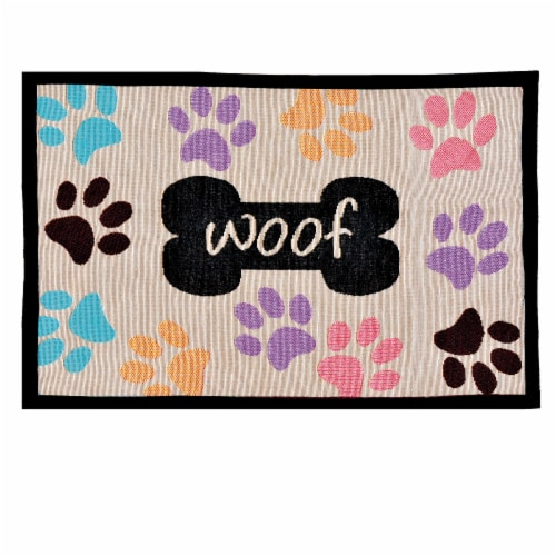 Bella Fashion Dog Bowl Mat Perspective: front