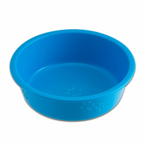Dolce Luminoso Medium Pet Bowl - Blue Perspective: front