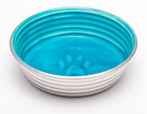 Le Bol Small Pet Bowl - Seine Blue Perspective: front