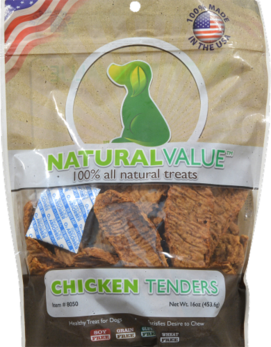Natural Value Chicken Tenders Dog Treats Perspective: front