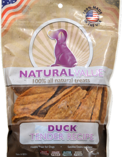 Natural Value Duck Dog Treats Perspective: front