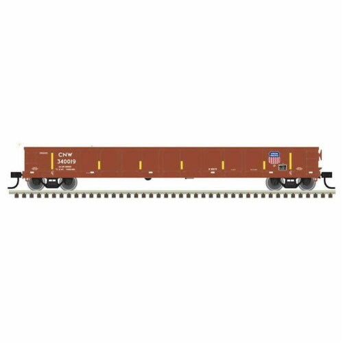 Atlas ATL50004684 N Evans Gondola UP, C & NW No.340019 Model Train, Brown & White Perspective: front