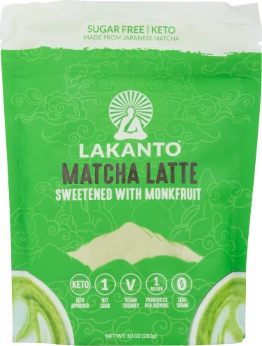 Lakanto Matcha Latte Drink Mix Perspective: front