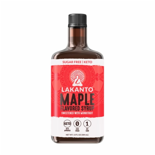 Lakanto Sugar-free Maple Flavored Syrup Perspective: front