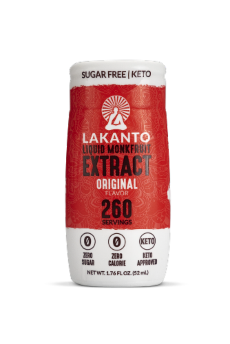 Lakanto Original Monk Fruit Extract Drops Perspective: front