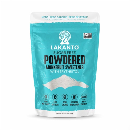 Lakanto Monk Fruit Classic Powdered Sweetener Perspective: front