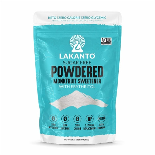 Lakanto Powdered Monkfruit Sweetener - 1:1 Powdered Sugar Substitute (1.76 lbs) Perspective: front
