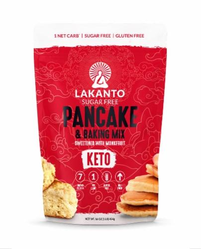 Lakanto Sugar Free Pancake and Baking Mix - Sweetened with Monkfruit (1 Lb) Perspective: front