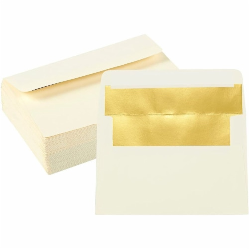 A4 Ivory Invitation Envelopes for Wedding, Birthday, Graduation (6x4 In, 50 Pack) Perspective: front