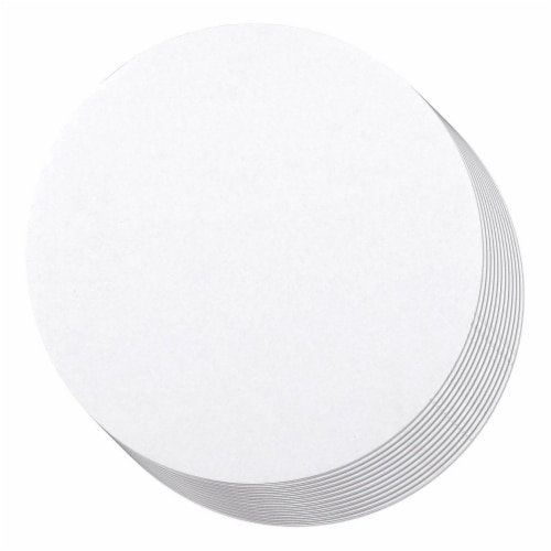 "12-Pack Round Cake Boards Cardboard White Cake Circle Base, 10"" Diameter Perspective: front"