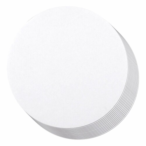 12-Pack Round Cake Boards, Cardboard Cake Circle Bases, 12 Inches Diameter, White Perspective: front
