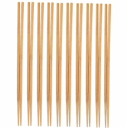 10-Pack Extra Long Cooking Chopsticks, For Cooking, Frying, Natural Bamboo, 16.5 Inches Perspective: front
