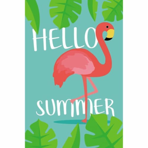 Juvale Garden Flag, Hello Summer Welcome Flag Banner for Outdoor Lawn Decoration Perspective: front