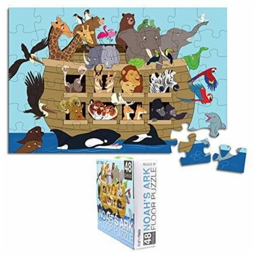 Noah's Ark Jumbo Floor Jigsaw Puzzle for Kids and Family, Age 3-5, 48-Piece, 1.9 x 2.9 Feet Perspective: front