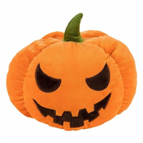 "Jack-O-Lantern Pumpkin Plush Stuffed Doll, Halloween Toy Pillow Cushion Gift 9"" Perspective: front"