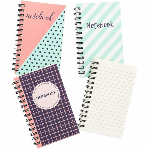 Pocket Size Spiral Lined Journal with Lined Pages, 50 Sheets Each (3x5 In, 12 Pack) Perspective: front