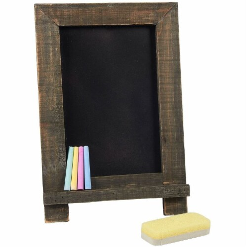 Chalkboard Sign with Chalk Markers and Eraser (14.25 x 9.6 x 10.2, 6 Pieces) Perspective: front