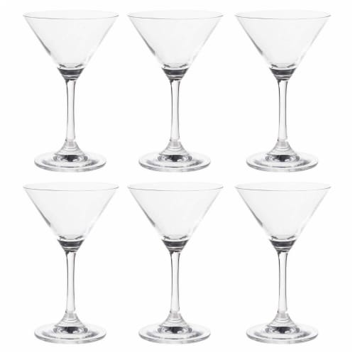 Martini Glasses - 6-Set Clear Classic 5-Ounce Cocktail Glasses, Inverted Cone Perspective: front