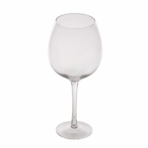 Clear XL Wine Glass for Holiday and Birthday Gag Gifts, 34oz, 10 Inches Tall Perspective: front