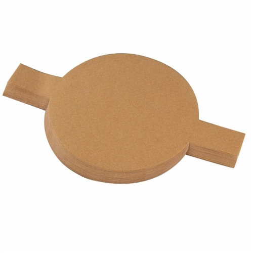 """200pcs 9"""" Non-Stick Unbleached Round Parchment Paper for Baking w/Easy Lift Tab Perspective: front"""