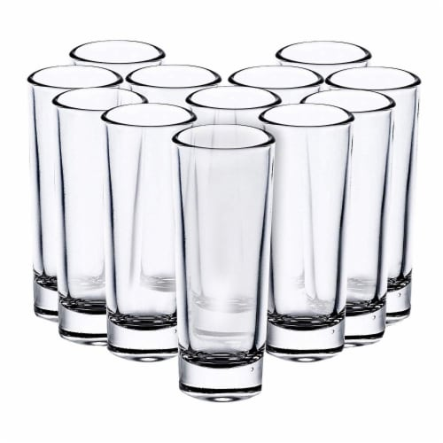24-Pack Tall Shot Glasses for Parties, Parfaits, Dessert, Tequila, Vodka - 2 Oz Perspective: front