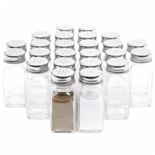 Juvale Glass Salt and Pepper Shakers (24 Pack) Perspective: front