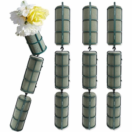 Bright Creations 12-Piece Floral Wet Foam Garland for Fresh Flowers, 2 x 5 Inches Each Perspective: front