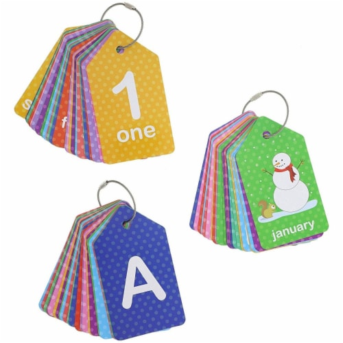 3-Pack First Words (Alphabet  Numbers) Flash Cards for Infants and Preschoolers Perspective: front