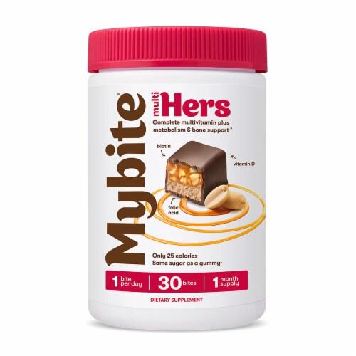MyBite Multi Hers Dark Chocolatey Complete Multivitamins Plus Bites Perspective: front