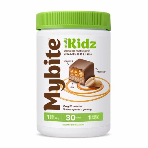 MyBite Vitamins Multi Kidz Milk Chocolate Complete Multivitamin Bites Perspective: front